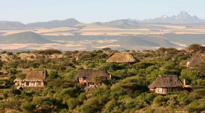 Scenic view from the Lewa Wilderness Lodge